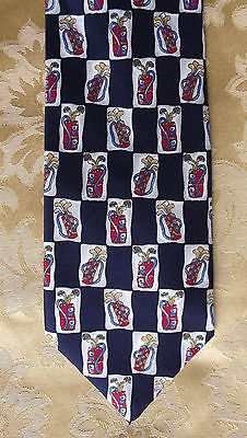 Golfing tie Paolo Vincente Gift present for a golfer NEW golf club check sports